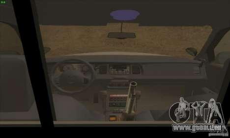 Ford Crown Victoria Arkansas Police pour GTA San Andreas vue arrière