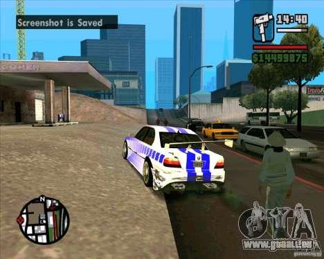 BMW 730i X-Games tuning pour GTA San Andreas laissé vue