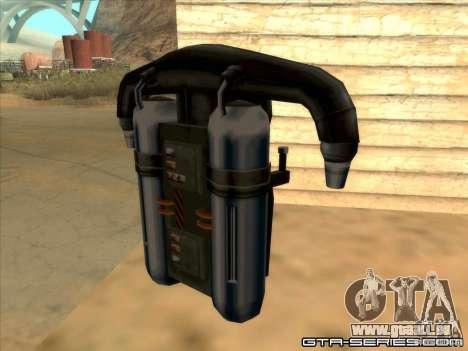 Jetpack spawner pour GTA San Andreas deuxième écran