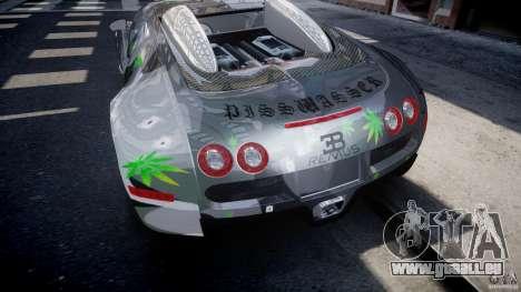 Bugatti Veyron 16.4 v1.0 new skin pour GTA 4 est une vue de dessous