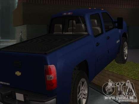 Chevrolet Silverado 1500 pour GTA San Andreas sur la vue arrière gauche