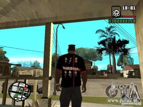 Rammstein t-shirt v3 pour GTA San Andreas