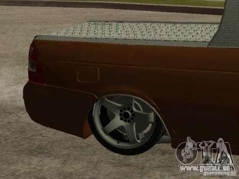 LADA 2170 Pickup für GTA San Andreas Unteransicht