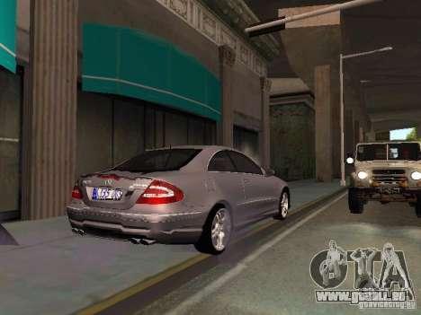 Mercedes-Benz CLK55 AMG für GTA San Andreas Seitenansicht