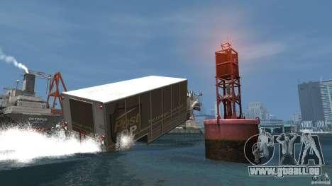 Benson boat für GTA 4 Rückansicht