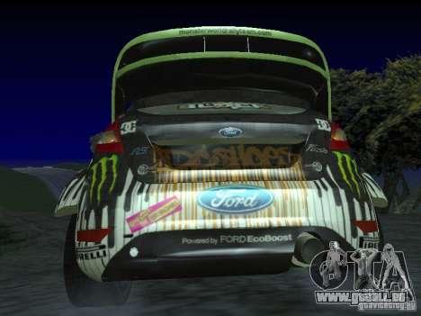 Ford Fiesta Ken Block WRC pour GTA San Andreas sur la vue arrière gauche