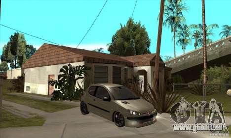 Peugeot 206 für GTA San Andreas Rückansicht