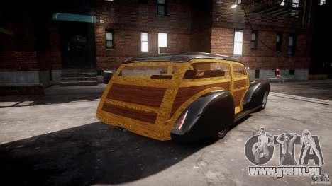 Chevy Fleetmaster Woody Kustom 1948 pour GTA 4 Vue arrière de la gauche