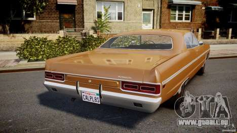 Plymouth Fury III Coupe 1969 für GTA 4 hinten links Ansicht