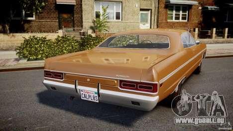 Plymouth Fury III Coupe 1969 pour GTA 4 Vue arrière de la gauche