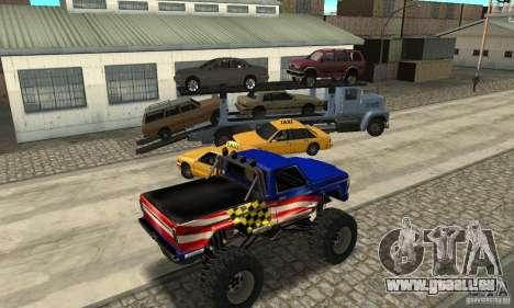 Avtoparkovŝik pour GTA San Andreas quatrième écran
