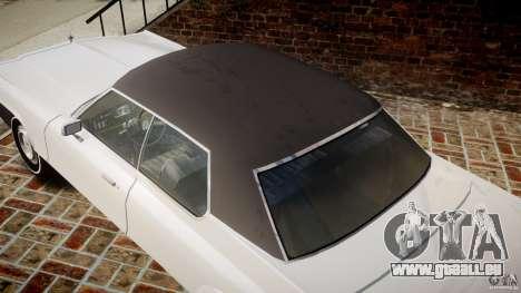 Dodge Monaco 1974 pour GTA 4 vue de dessus
