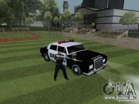 Stafford Police SF pour GTA San Andreas vue de droite