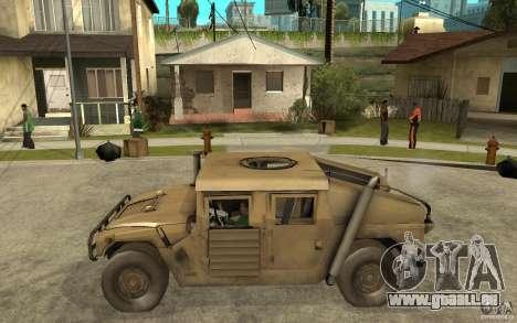Hummer H1 War Edition für GTA San Andreas linke Ansicht