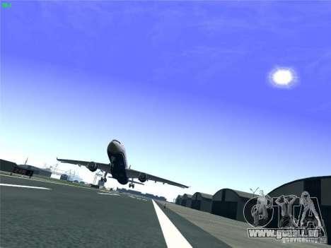 Airbus A330-300 US Airways für GTA San Andreas obere Ansicht