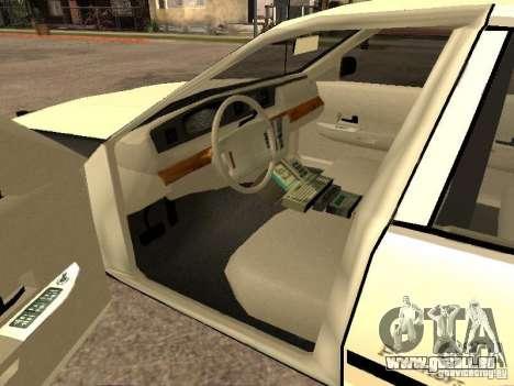 Ford Crown Victoria 1994 Police für GTA San Andreas zurück linke Ansicht