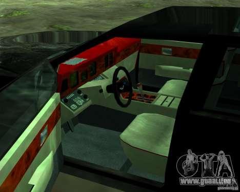 Aston Martin Lagonda für GTA San Andreas Unteransicht