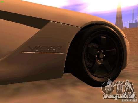 Dodge Viper SRT-10 Roadster pour GTA San Andreas sur la vue arrière gauche