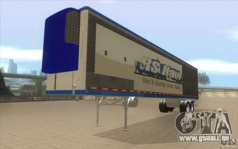 Remorque pour camion Optimus Prime pour GTA San Andreas vue de droite