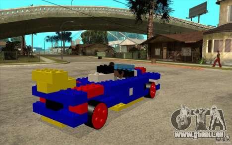 LEGO-mobile für GTA San Andreas rechten Ansicht