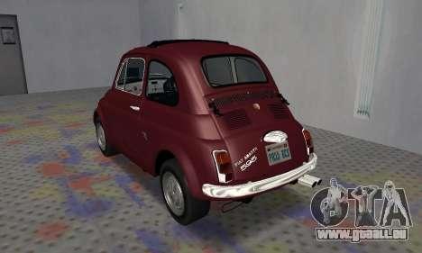 Fiat Abarth 595 SS 1968 für GTA San Andreas rechten Ansicht