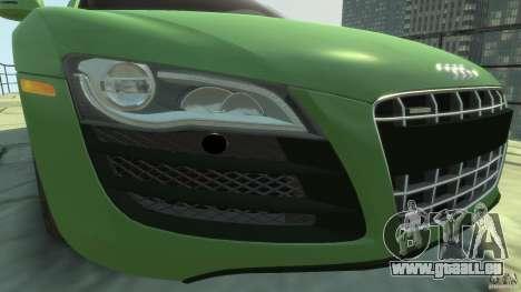 Audi R8 5.2 FSI quattro v1 pour GTA 4 est une vue de l'intérieur