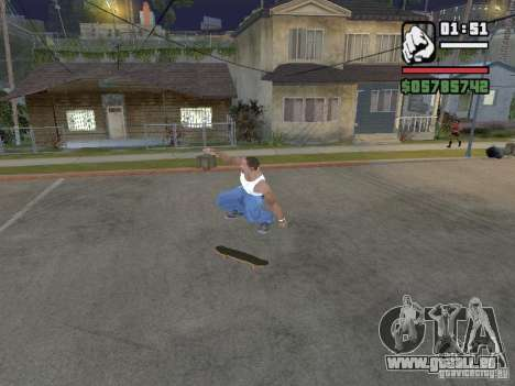 Patinage pour GTA SA pour GTA San Andreas quatrième écran