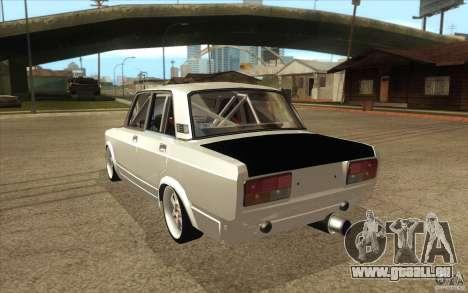 VAZ Lada 2107 Drift für GTA San Andreas zurück linke Ansicht