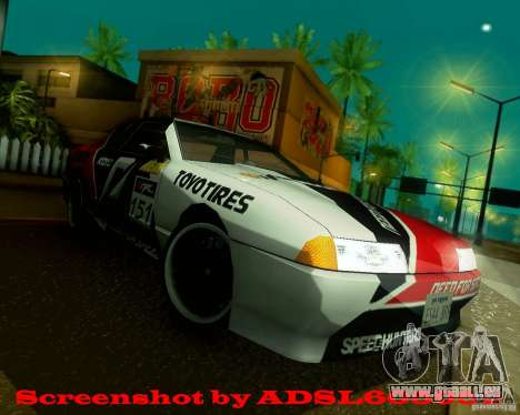 Need for Speed Elegy pour GTA San Andreas vue de droite