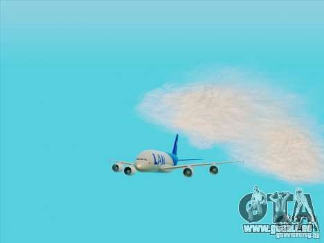 Airbus A380-800 Lan Airlines pour GTA San Andreas vue arrière
