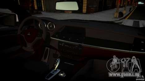 BMW X 6 Hamann pour GTA 4 Vue arrière