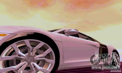 Audi R8 V10 5.2. FSI pour GTA San Andreas sur la vue arrière gauche
