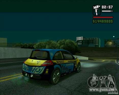 Renault Megane II RS pour GTA San Andreas sur la vue arrière gauche