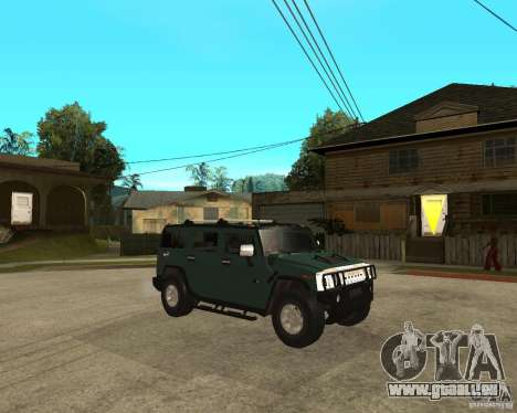 AMG H2 HUMMER SUV pour GTA San Andreas vue de droite
