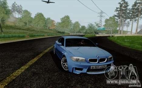 BMW 1M 2011 V3 pour GTA San Andreas sur la vue arrière gauche