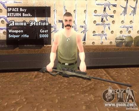 Accuracy International L96A1 pour GTA San Andreas deuxième écran