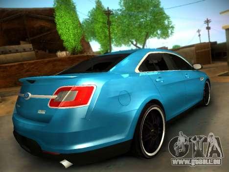 Ford Taurus SHO 2011 pour GTA San Andreas sur la vue arrière gauche