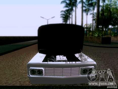 Slamvan Tuned pour GTA San Andreas vue arrière