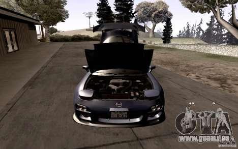 Mazda RX-7 Hellalush pour GTA San Andreas salon