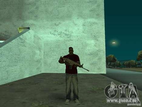 FN Scar-L HD für GTA San Andreas zweiten Screenshot