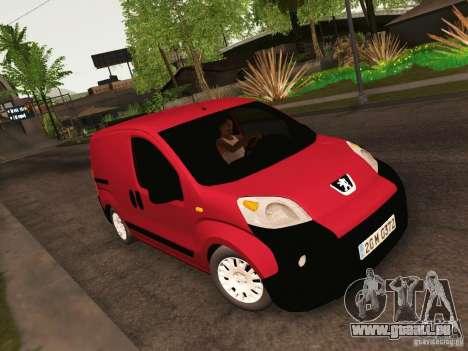Peugeot Bipper pour GTA San Andreas vue intérieure