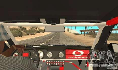 Mercedes-Benz E63 AMG DTM 2011 pour GTA San Andreas vue intérieure