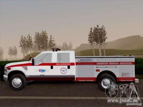 Ford F-350 AMR Supervisor pour GTA San Andreas vue de côté