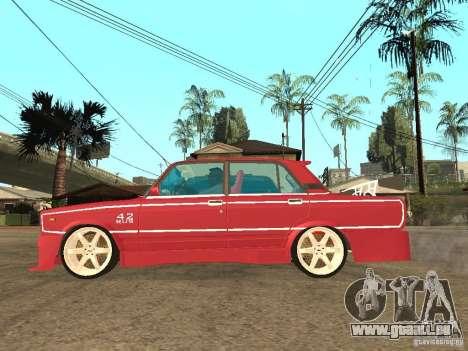 VAZ 2107 Sparky pour GTA San Andreas laissé vue