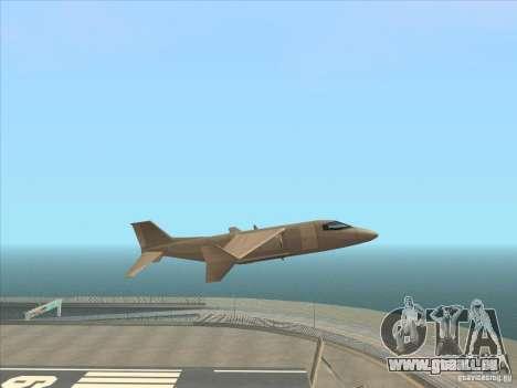 Cargo Shamal pour GTA San Andreas sur la vue arrière gauche