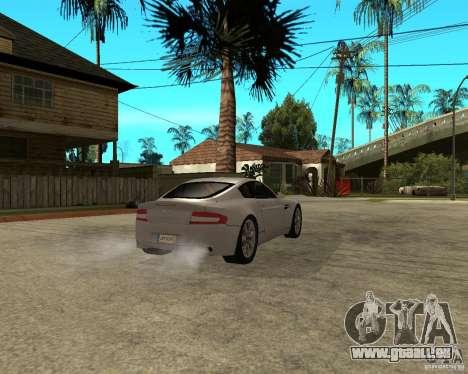 Aston Martin VANTAGE concept 2003 pour GTA San Andreas sur la vue arrière gauche