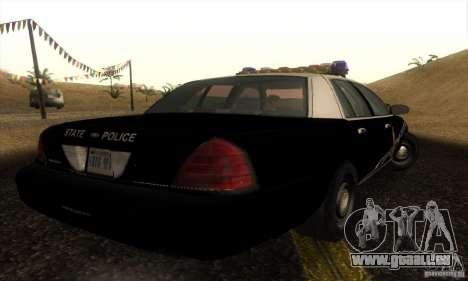 Ford Crown Victoria Idaho Police pour GTA San Andreas laissé vue