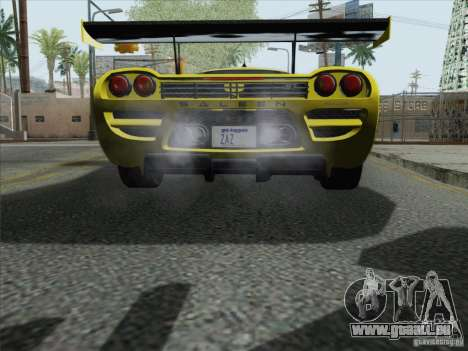 Saleen S7 Twin Turbo Competition Custom für GTA San Andreas Rückansicht