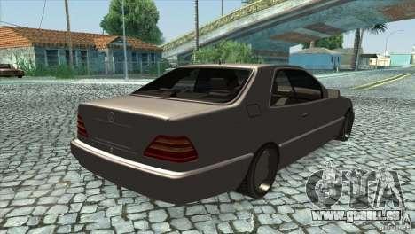 Mercedes Benz 600 Sec pour GTA San Andreas vue de droite
