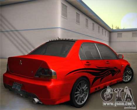 Mitsubishi Lancer Evolution IX Tunable pour GTA San Andreas salon